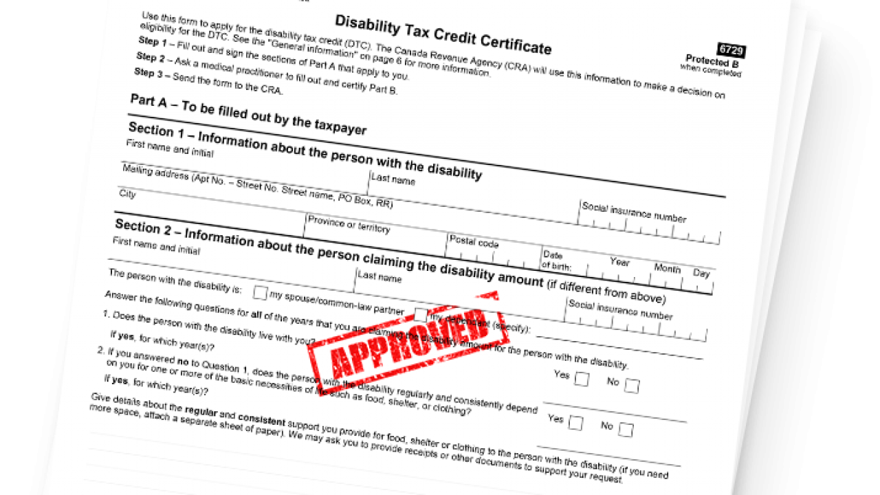 Are You Eligible For The Disability Tax Credit Dtc Rdsp