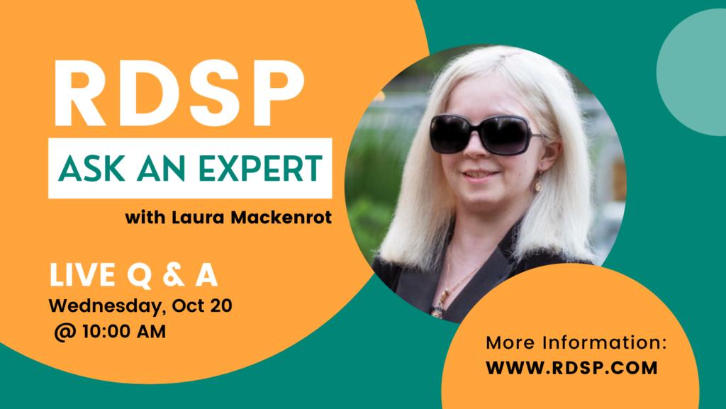 RDSP ask an expert